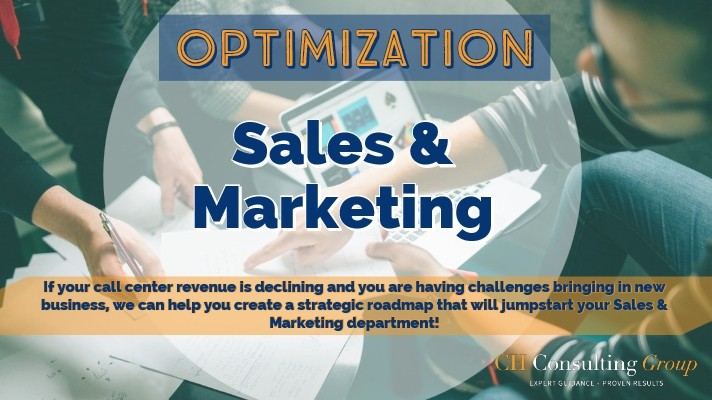 call center sales and marketing optimization