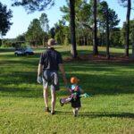 grandson miles golfing